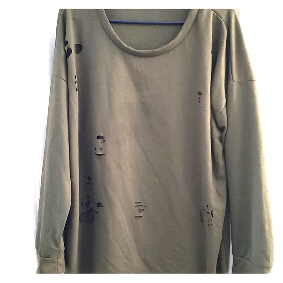Charlotte Russe Tops - Destroyed sweater